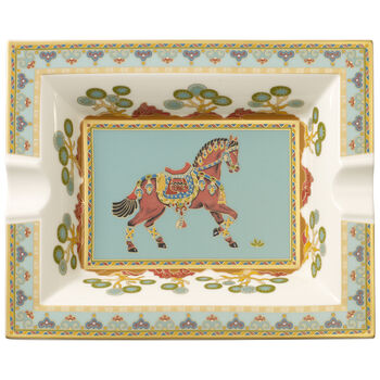 Samarkand Aquamarin ashtray 17 x 21 cm