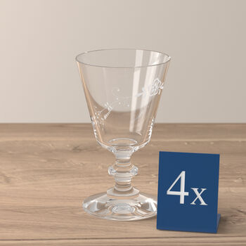 Old Luxembourg white wine glass, 4 pieces