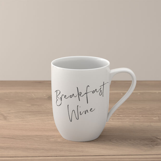 "Statement mug ""Breakfast Wine"", , large"