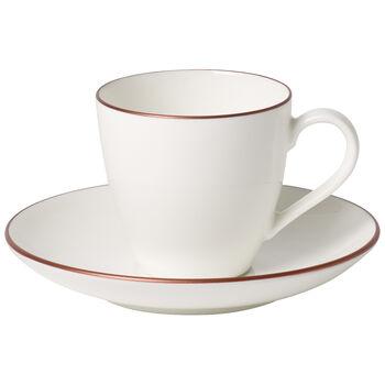 Anmut Rosewood Espresso cup & saucer 2pcs