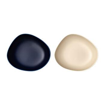 like. by Villeroy & Boch Organic soup plate, 2 pieces, blue/beige