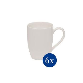 vivo   Villeroy & Boch Group Basic White mug set, 6 pieces EC