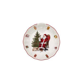 Toy's Fantasy Bowl with Santa relief, 24x25x4,6cm