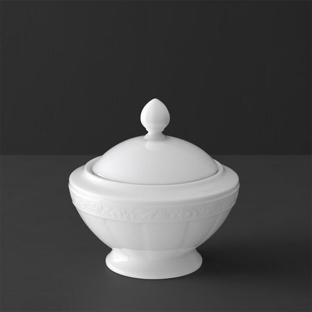 White Pearl sugar bowl 6 people, , large
