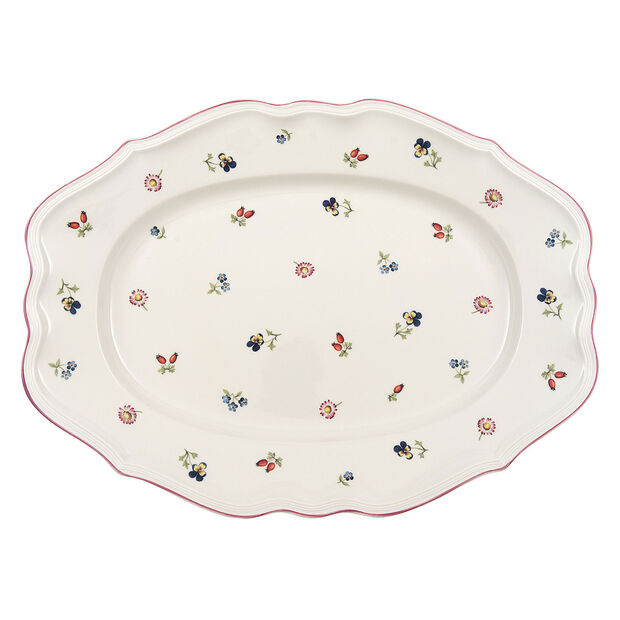 Petite Fleur oval plate 44 cm, , large