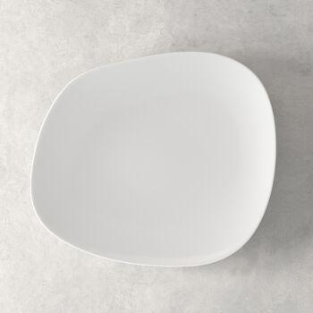 Organic White dinner plate 28 x 24 x 3cm