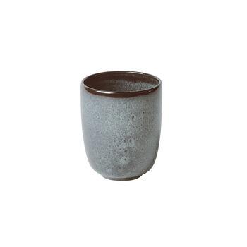Lave Glacé handleless mug, turquoise, 9 x 9 x 10.5 cm, 400 ml