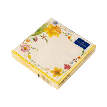 Easter Accessoires Spring Fanatasy L-Napkin Easter Flowers 33x33cm