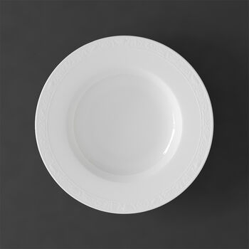 White Pearl soup plate