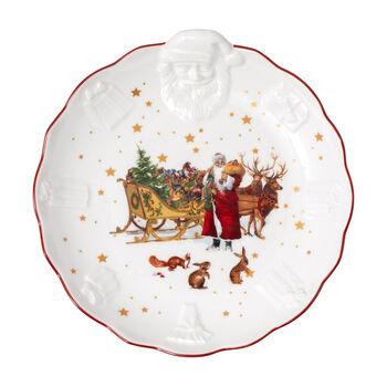Toy's Fantasy bowl with Santa relief Nostalgia, multicoloured/red/white, 24 x 25 x 4.6 cm