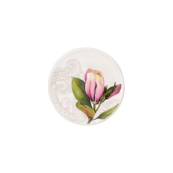 Quinsai Garden coaster, 11 cm diameter, white/multi-coloured
