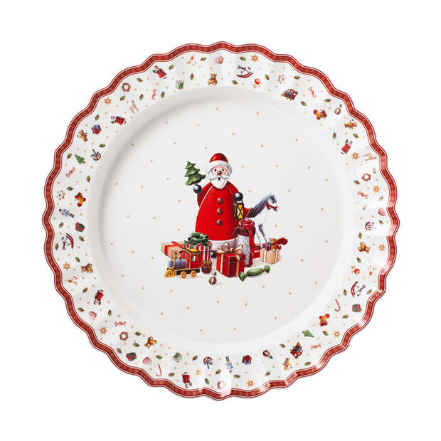 Toy's Delight serving plate, multicoloured/red/white, 45 cm, , large