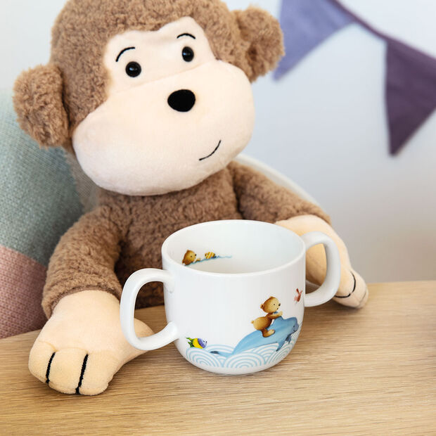 Happy as a Bear Children mug with 2 handles 140x80x70mm, , large