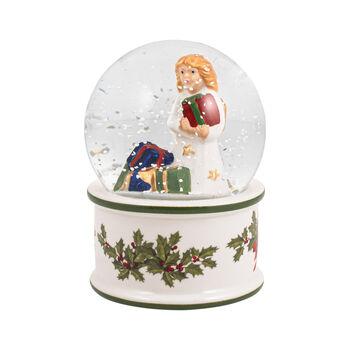 Christmas Toys small snow globe angel, 6.5 x 6.5 x 9 cm