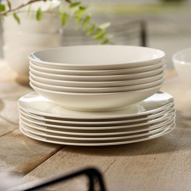 Voice Basic dinner set, white, 12 pieces, , large