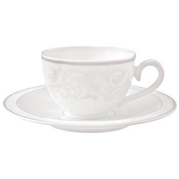 Gray Pearl Coffee/tea cup & saucer 2pcs