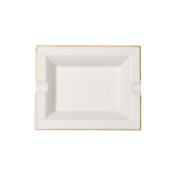 Anmut Gold ashtray, 17 x 21 cm, white/gold