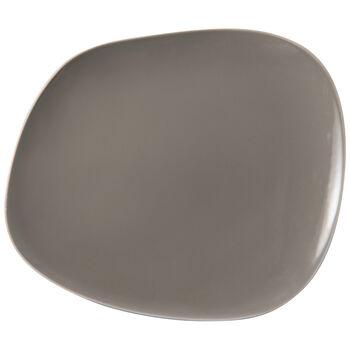 Organic Taupe dinner plate 28x24x3cm