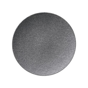 Manufacture Rock Granit dinner plate, coupe, 27 cm, Grey