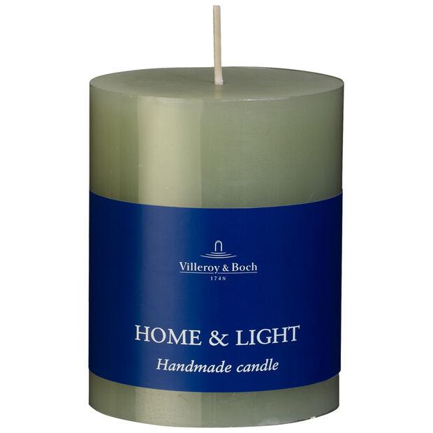 Essentials Candles Fog Green Pillar 7x9 7x9cm, , large