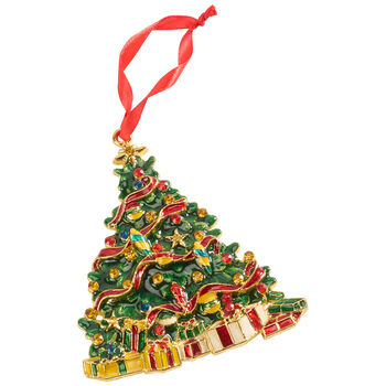 Winter Collage Accessories metal hanging ornament tree, multicoloured, 12 cm