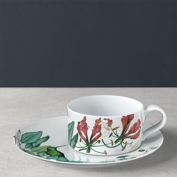Avarua tea cup & saucer, 230 ml, white/multicoloured