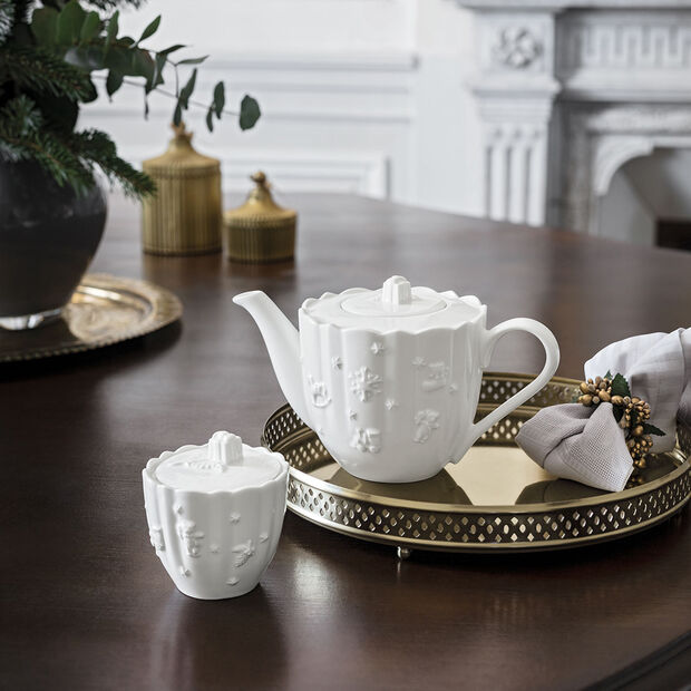 Toy's Delight Royal Classic sugar bowl with lid, white, , large
