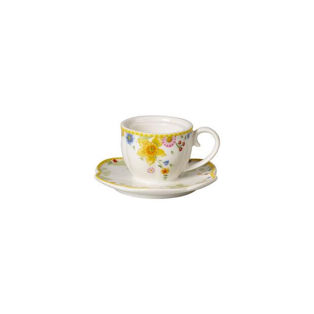 Spring Awakening tea light holder, cup, yellow/multicoloured, , large