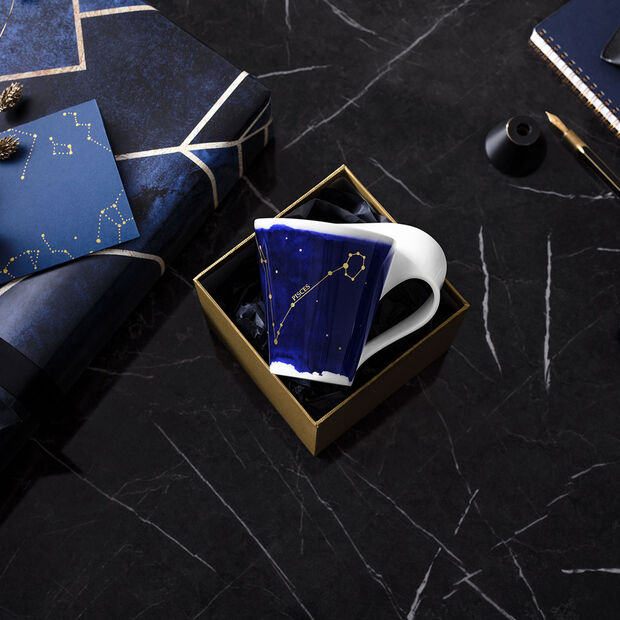 NewWave Stars mug Pisces, 300 ml, blue/white, , large