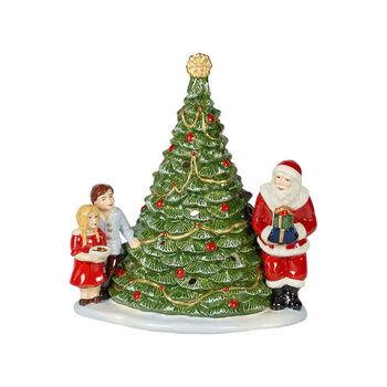 Christmas Toy's Santa on a tree, green/multicoloured, 20 x 17 x 23 cm