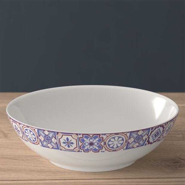 Modern Dining large bowl, indigo caro, , large