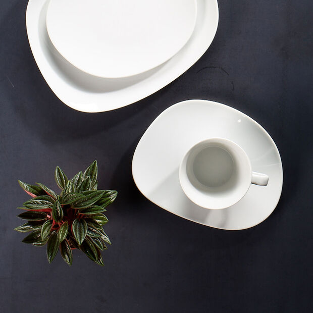 Organic White Coffee cup 12 x 9,5 x 7cm, , large