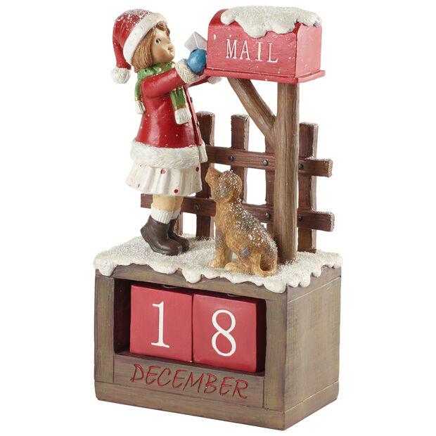Winter Collage Accessoires Calendar Girl 12,5x8x22,5cm, , large