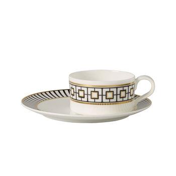 MetroChic Tea cup & saucer 2pcs 18,5x18,5x5,5cm