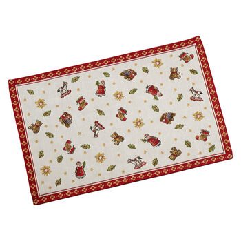 Toy's Delight Gobelin placemat toys, red/multicoloured, 32 x 48 cm