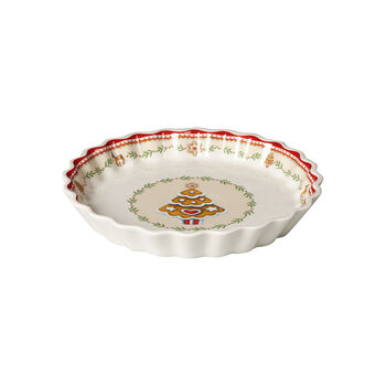 Winter Bakery Delight snack plate gingerbread, red/multicoloured, 22 cm