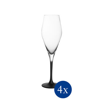 Manufacture Rock champagne glass, 4 pieces, 260 ml