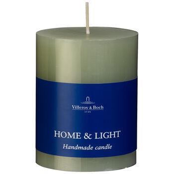 Essentials Candles Fog Green Pillar 7x9 7x9cm
