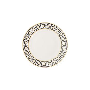 MetroChic bread plate, white/black/gold