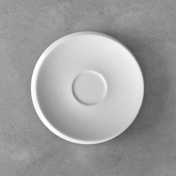 NewMoon coffee cup saucer, white