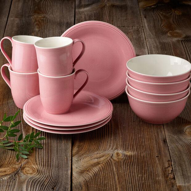 Color Loop Rose breakfast set, rose, 12 pieces, , large