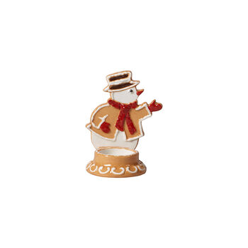 Winter Bakery Decoration gingerbread snowman, brown/white, 7 x 7 x 11 cm