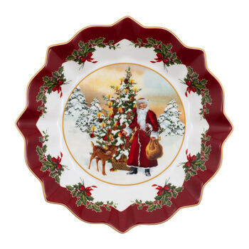 Toy's Fantasy large bowl Santa and tree, multicoloured/red/white, 25 x 25 x 4 cm