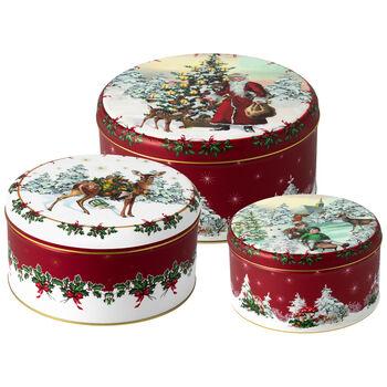 Winter Collage Accessoires Cookie box Set 3 19,7x9,4cm