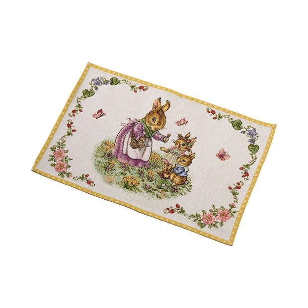 Spring Fantasy Gobelin placemat Bunny Family, 32 x 48 cm, multicoloured, , large