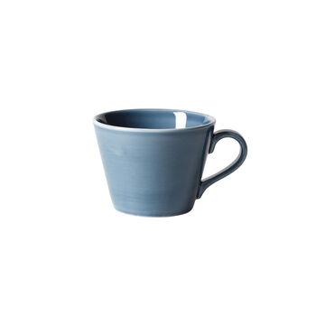 Organic Turquoise Coffee cup 12 x 9,5 x 7cm
