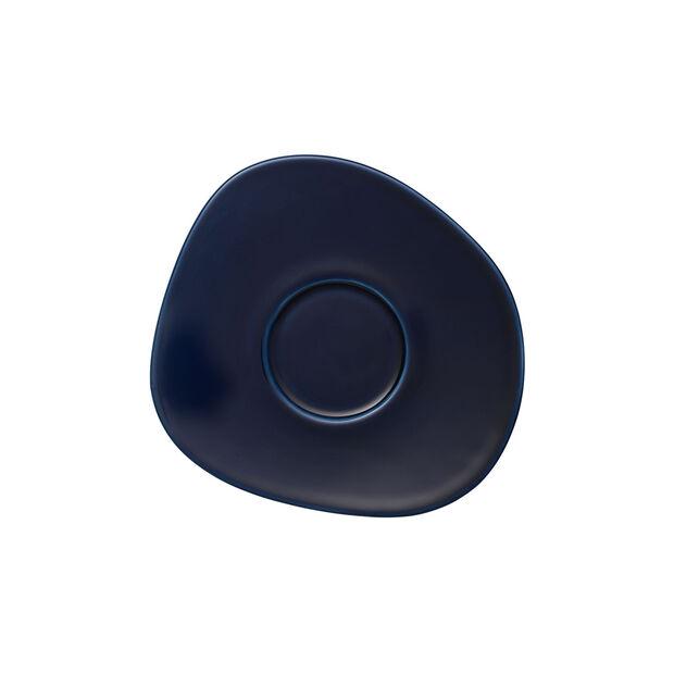 Organic Dark Blue coffee cup saucer, dark blue, 17.5 cm, , large