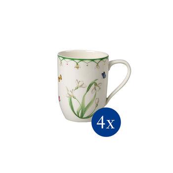 Colourful Spring coffee mug, Flowers, 340 ml, 4 pieces