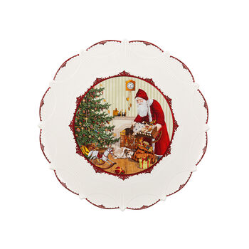 Toy's Fantasy Pastry plate large, Santa brings gifts 42x42x2cm