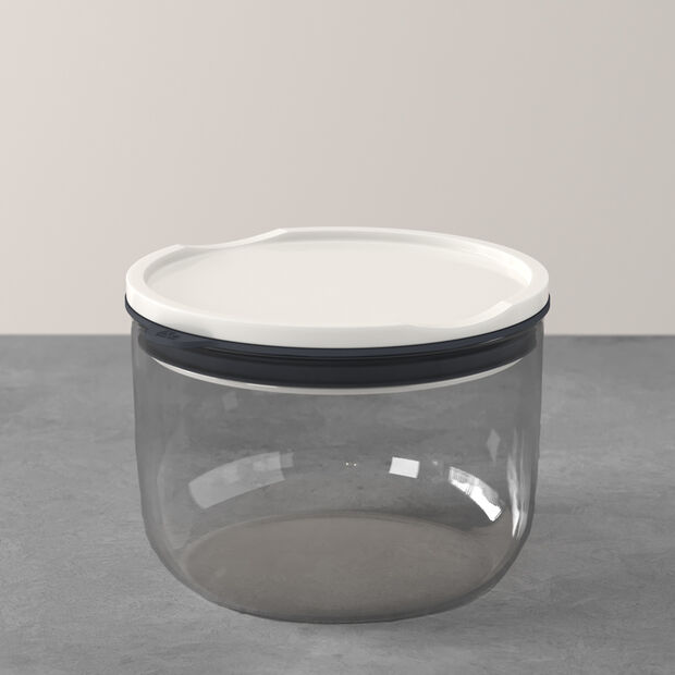 ToGo&ToStay lunch box, 13 x 9.5 cm, round, grey, , large
